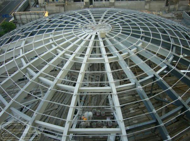 圆形屋顶钢结构网壳